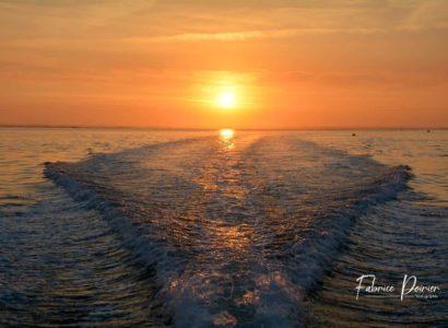 balade bateau bassin arcachon coucher de soleil